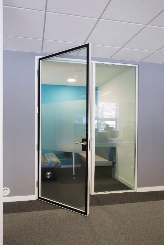 QIC universal 44mm double glazed door that can be integrated with all QIC partitioning systems. This ready to hang double glazed hinged or pivoted door ... & New Double Glazed Door | QicTrims Ltd